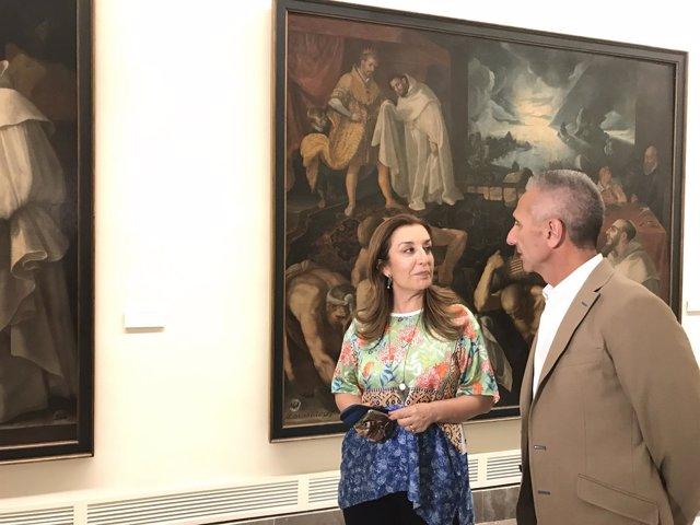 Consejero de Cultura y la directora del museo de Bellas Artes de sevilla