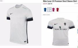 La nueva camiseta de la segunda equipación del Sporting, 70% más barata sin el escudo