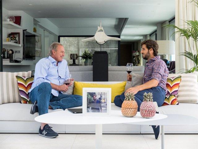Feliciano López y Bertín Osborne en 'Mi casa es la tuya'