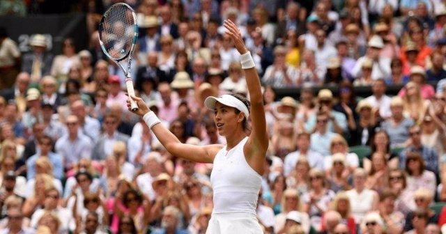 Garbiñe Mugurza en Wimbledon