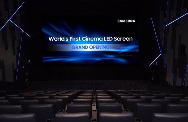 Samsung cine pantalla LED cines tecnología