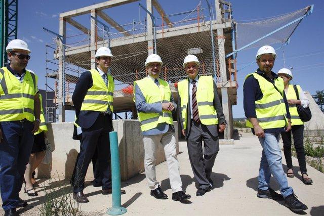 Lambán visita el Centro de FP de Fundación Laboral de la Construcción de Aragón