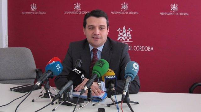 José María Bellido en una rueda de prensa