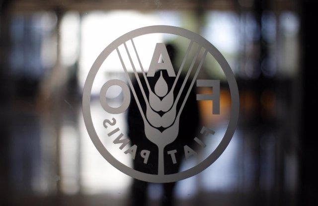 Logo de la sede de la FAO en Roma.