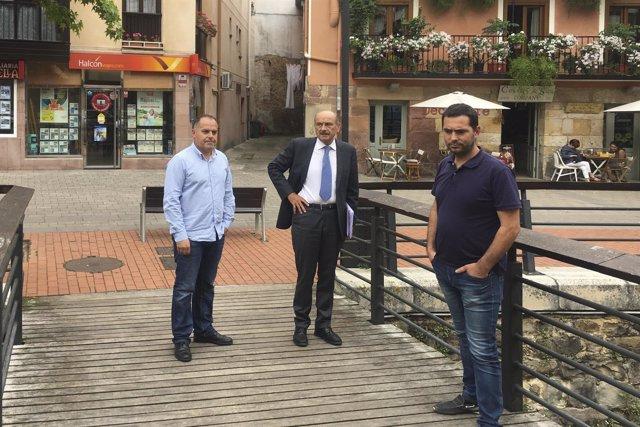 Mazón con alcalde de Cabezón de la Sal