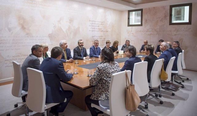La Confederación Empresarial de Bizkaia- Cebek visita lehendakaritza
