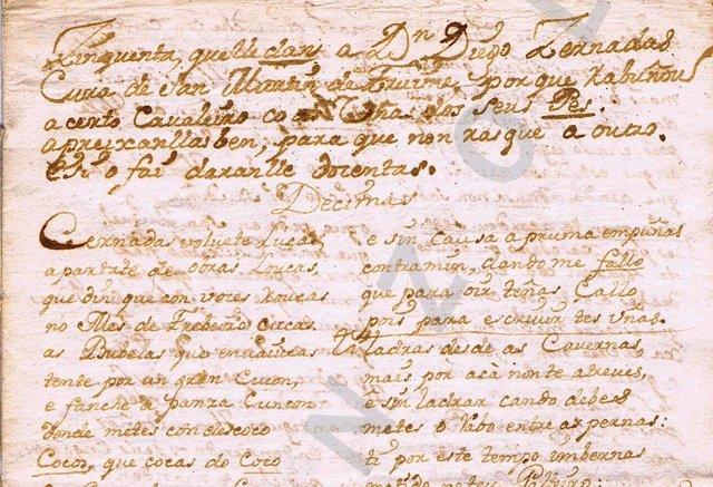 Manuscrito en gallego de los 'Séculos escuros'