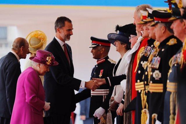 Ceremonio de recibimiento a Felipe VI