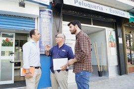Millán (Cs) pide agilizar licencias y garantizar la seguridad en las calles del sevillano barrio de San Pablo