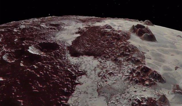 Superficie en 3D de Plutón