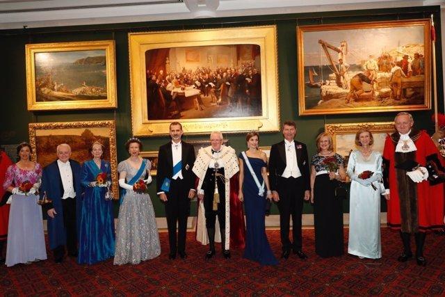 El Rey Felipe en la cena en la City de Londres