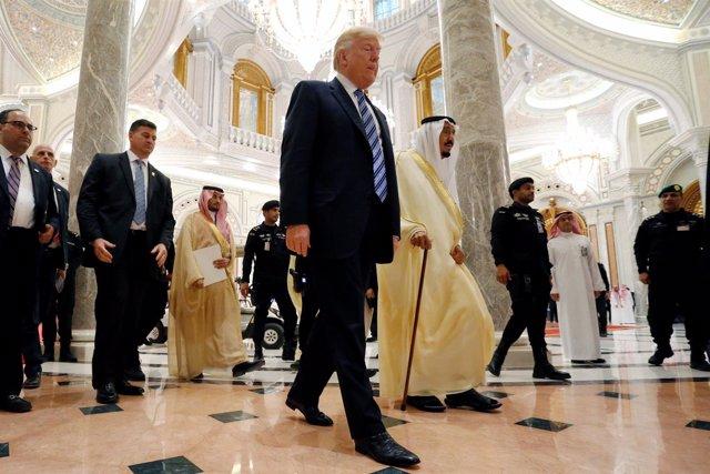 Donald Trump y Salman bin Abdulaziz