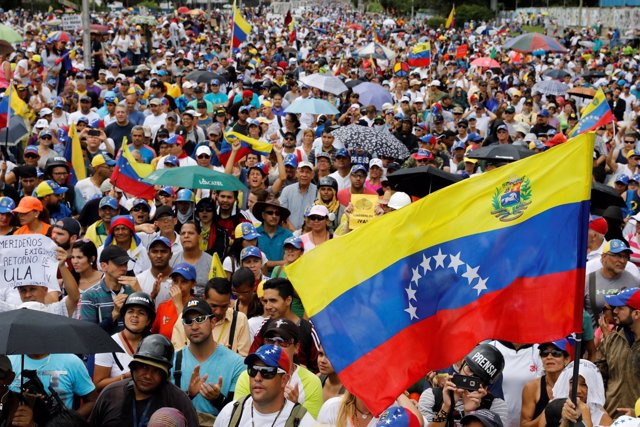 Opposition supporters attend a rally against Venezuelan President Nicolas Maduro