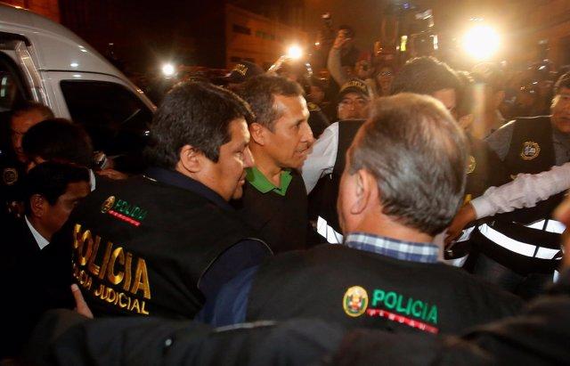 Ollanta Humala entra en prisíon