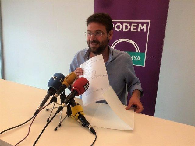 El secretario general de Podem, Albano-Dante Fachin
