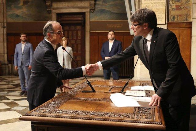 J.Turull toma posesión de la conselleria de Presidencia