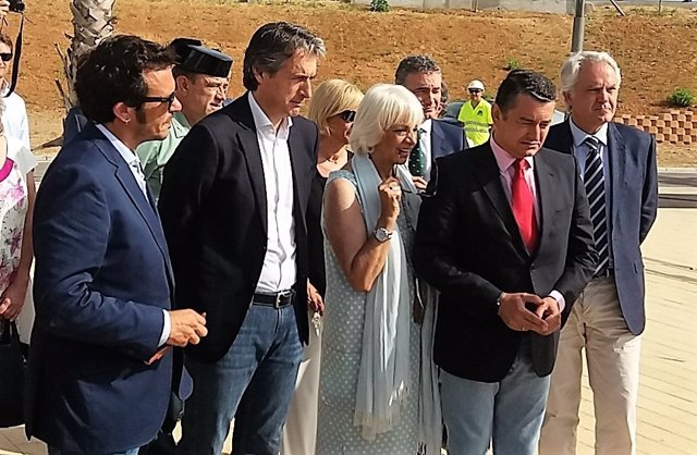 De la Serna, con Kichi, Teófila Martínez y Antonio Sanz