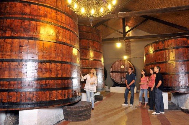 Una de las visitas a una de las bodegas de la Ruta del Vino Somontano