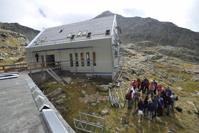 Obras en el Refugio de Cap de Llauset, en Montanuy (Huesca)