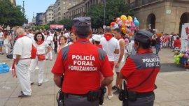 Policía Foral detiene a 40 personas y recoge 652 denuncias en los Sanfermines