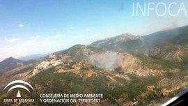 Afectadas 2,5 hectáreas de matorral y arbolado por el incendio forestal ya controlado en Segura de la Sierra (Jaén)