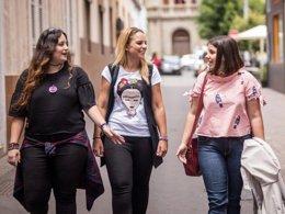 Noemí Santana, Inés Chinea y Laura Fuentes