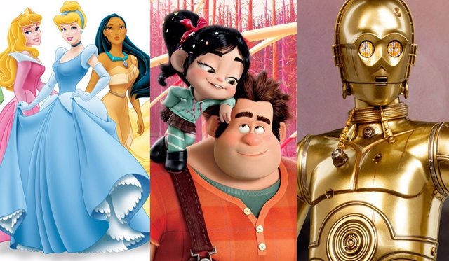 Princesas Disney, Rompe Ralph y C3-PO