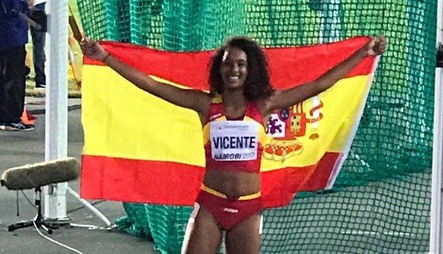 La atleta española María Vicente, campeona del mundo juvenil
