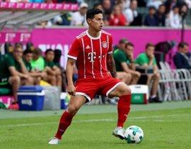 James Rodríguez debuta con el Bayern en un torneo de exhibición