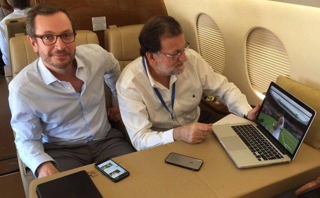 Mariano Rajoy siguiendo la final de Wimbledon de Muguruza