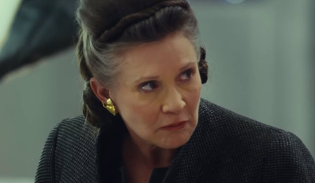 Carrie Fisher en 'Star Wars: Los últimos jedi'