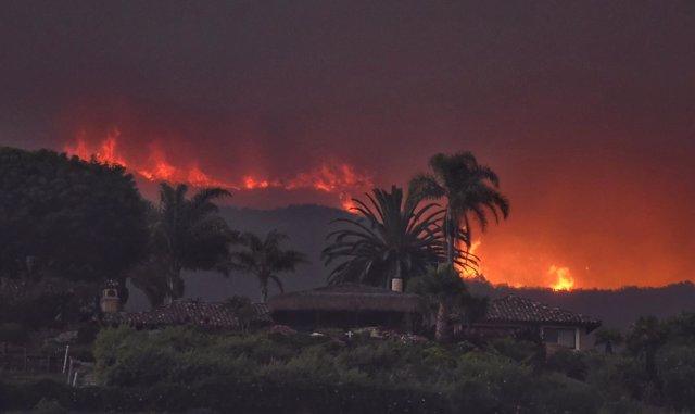 Imagen del incendio de California en las inmediaciones del rancho El Capitan.