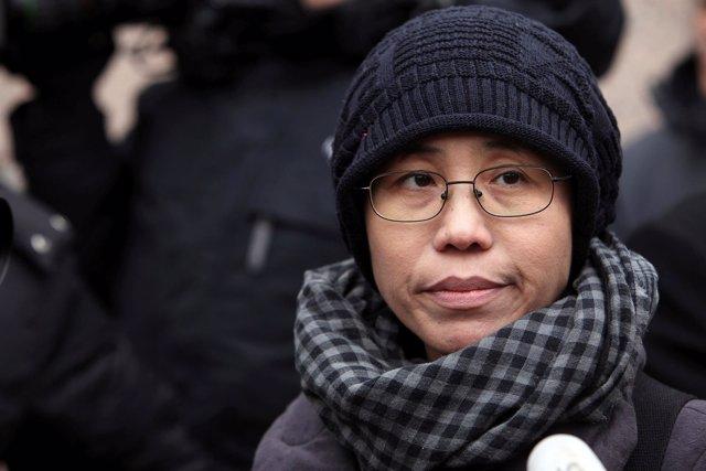 Liu Xia, viuda del disidente chino Liu Xiaobo.