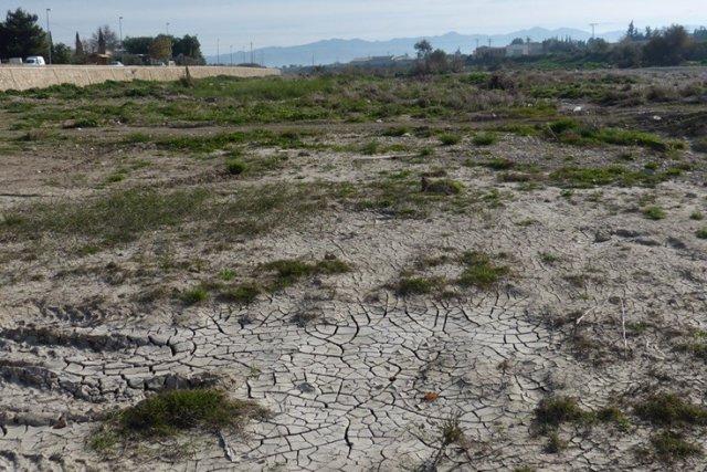 Imagen que muestra un campo seco, sequía, falta de agua