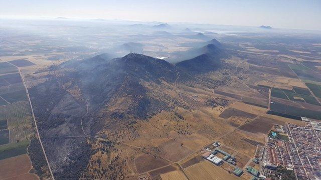 Efectos del fuego en la sierra de Arroyo de San Serván