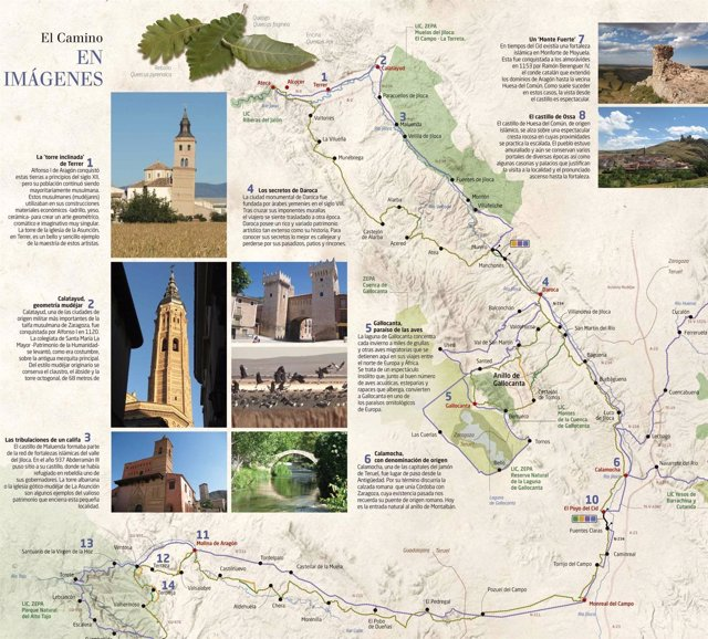 Detalle de uno de los nuevos folletos del Camino del Cid