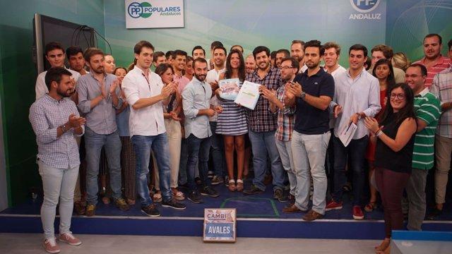 Representantes de NNGG Andalucía