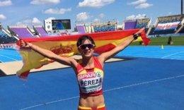 María Pérez 20 km marcha subcampeona