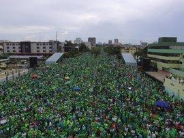 Cientos de dominicanos se suman a la Gran Marcha Verde Nacional contra la corrupción y la impunidad