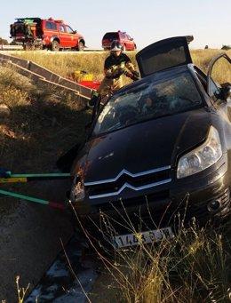 Accidente de tráfico en Zaragoza con un herido