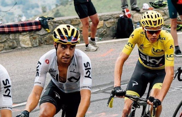 Mikel Landa con Chris Froome en el Tour de Francia 2017
