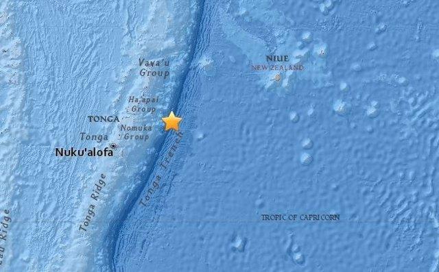 Terremoto en Tonga