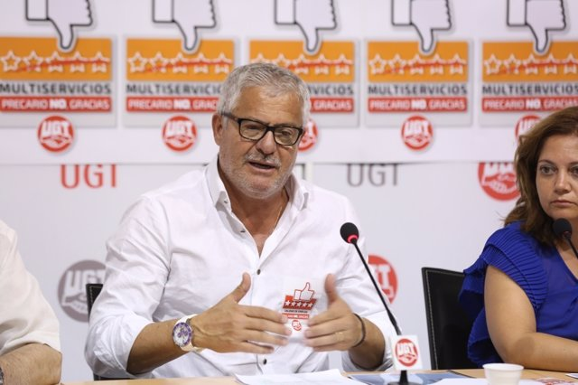 El secretario de Política Sindical de UGT, Gonzalo Pino