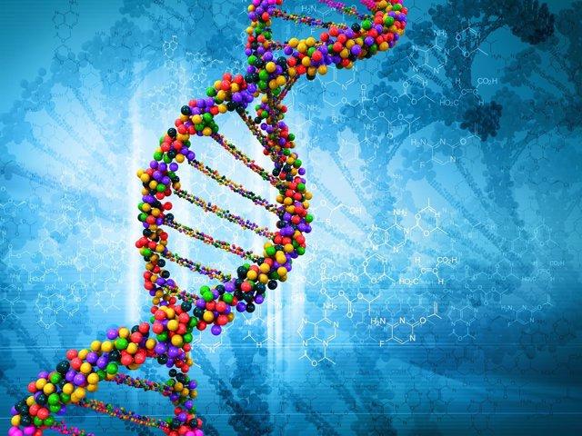 Ilustración digital del ADN