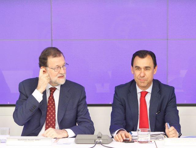 Mariano Rajoy i Fernando Martínez Maillo