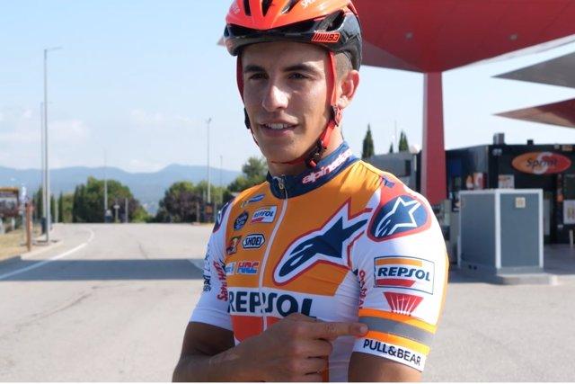 Marc Márquez, en la campaña contra los accidentes ciclistas