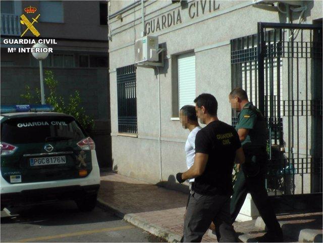 El detenido por la Guardia Civil