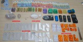 Desmantelado un punto de venta de heroína en la zona vieja de Santiago