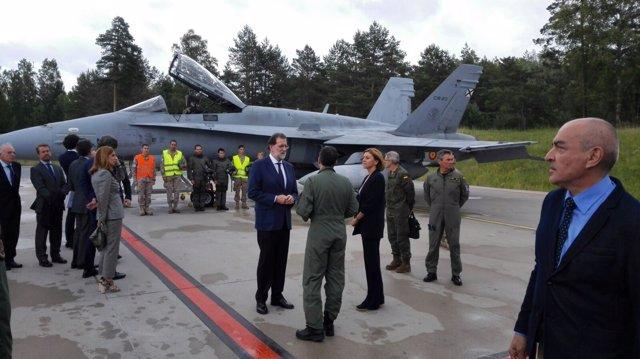 Rajoy llega a Estonia para una visita a las tropas españolas