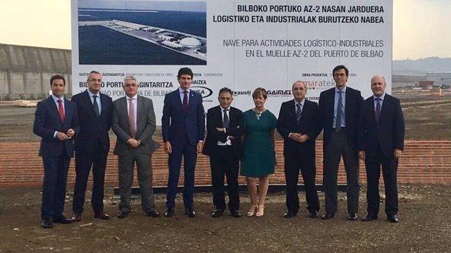Inicio obras planta Haizea Wind en el Puerto de Bilbao.
